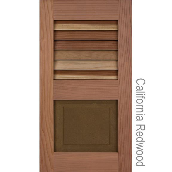 Exterior Wooden Shutters - Cedar & Redwood Louvers and Raised Panel