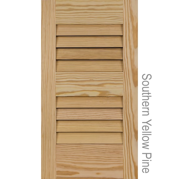 Louvered Pine Shutters From Shutterland Unfinished