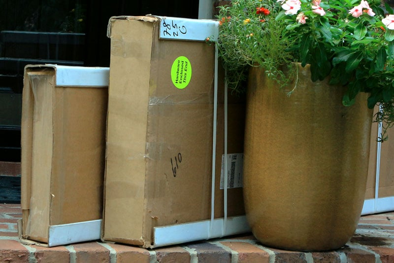 American shutters are boxed and shipped to your front door.