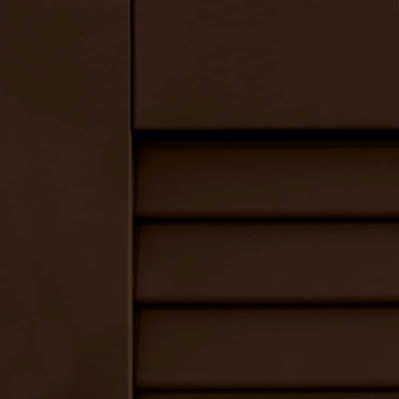 Exterior brown shutters for windows.
