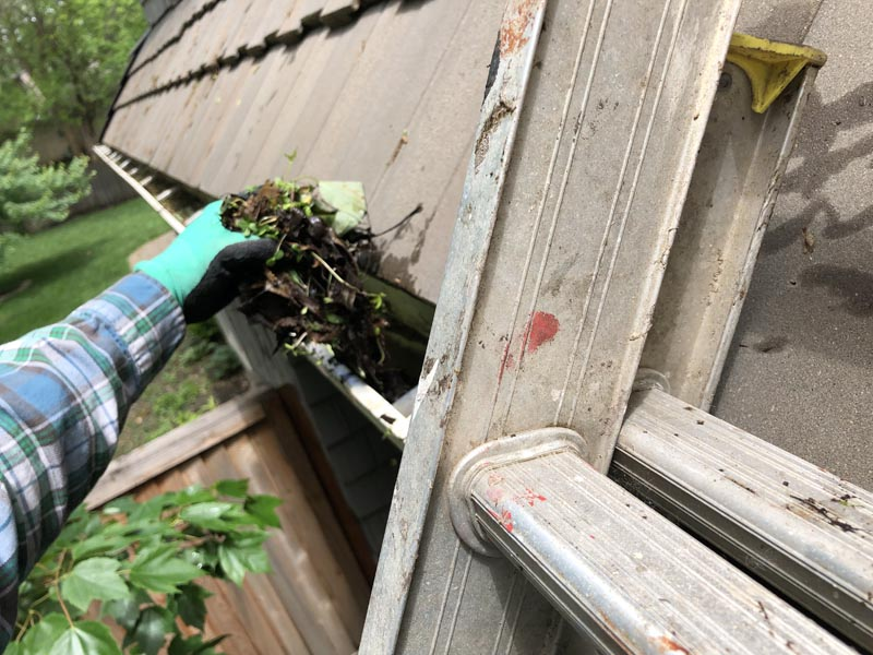 Spring cleaning clean gutters.