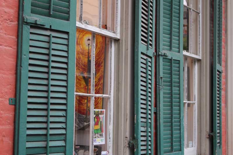 Exterior shutters in New Orleans.