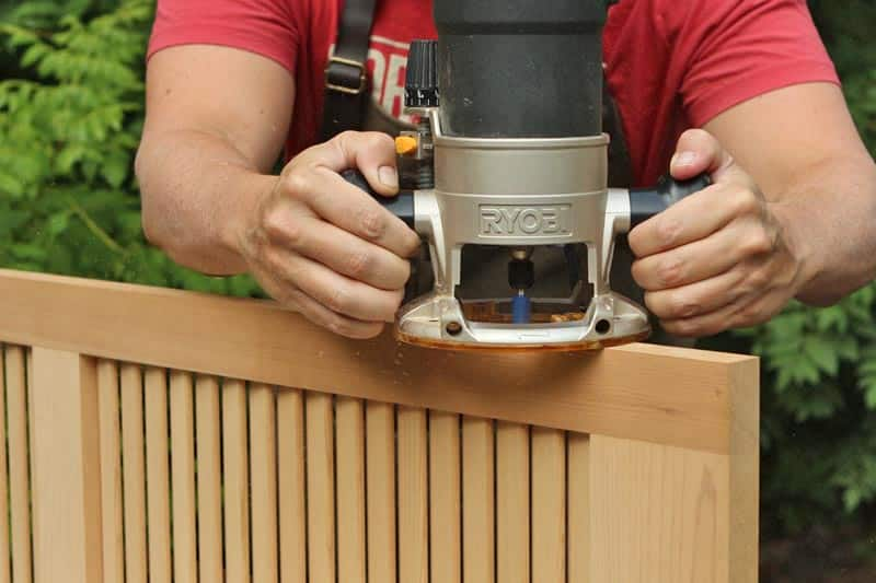 Use a router to mortise for Acme Lull & Porter exterior shutter hinges.