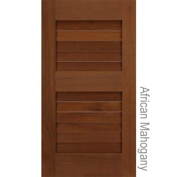African Mahogany Exterior Shutters With Louvers