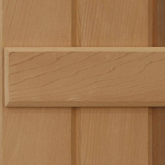 Western Red Cedar wood board & batten wood shutters.