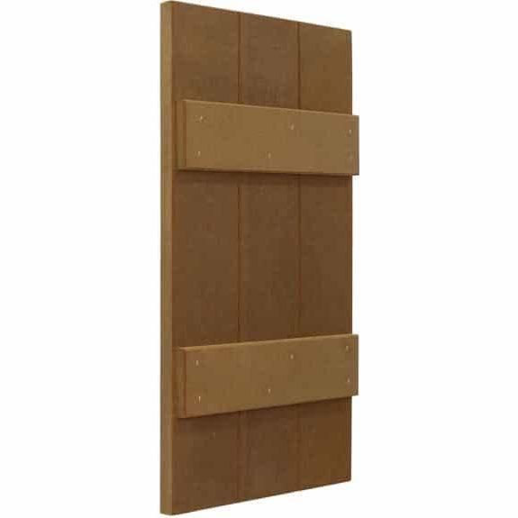 DIY composite exterior board and batten house outdoor shutters.