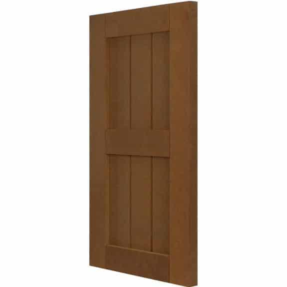 Durable external composite shutters for exterior house windows.