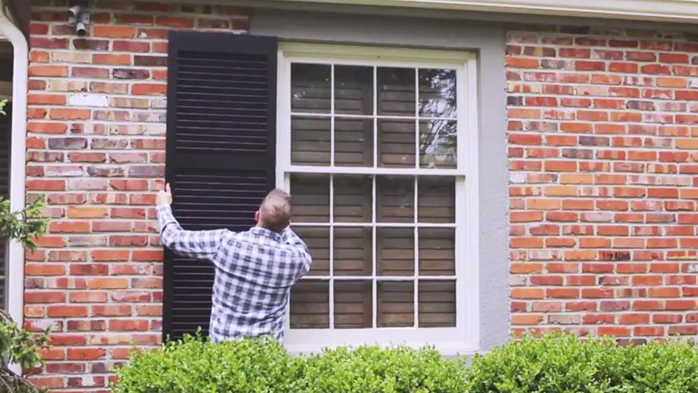 How To Install Exterior Shutters Be Stationary On A House Window