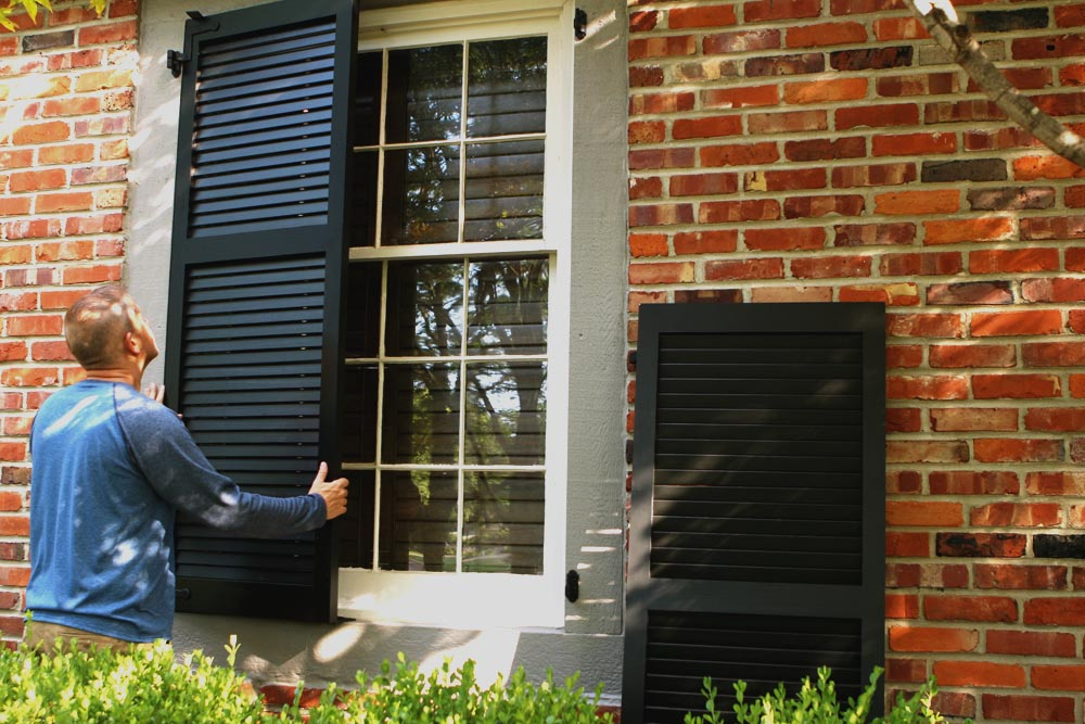 How To Install Exterior Shutters Be Functional On Brick Or Wood