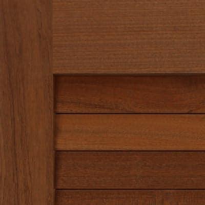 Wooden mahogany exterior shutters.