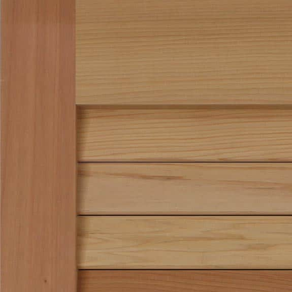 Premium wood louvered exterior California redwood shutters.