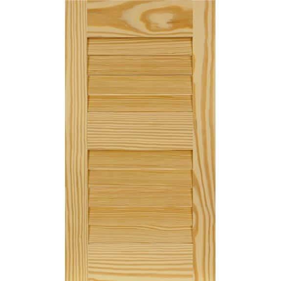 Exterior wooden pine shutter panel for home improvement.