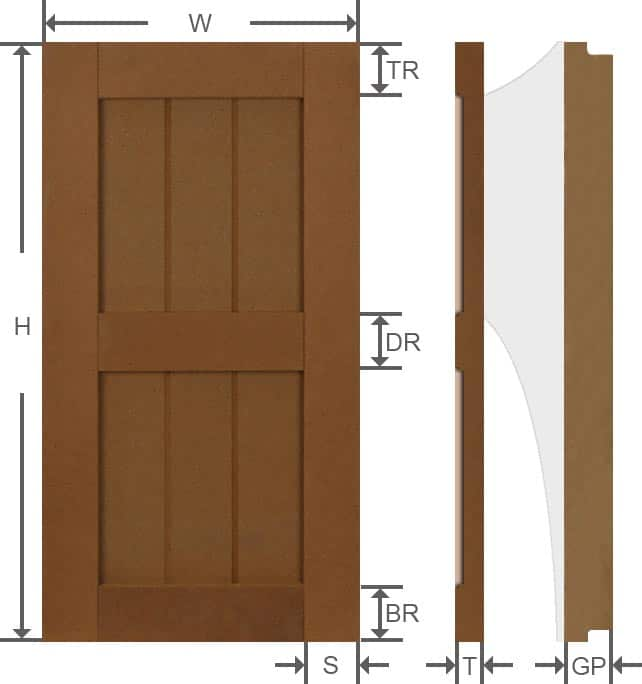 Rustic composite grooved panel exterior shutters specifications.