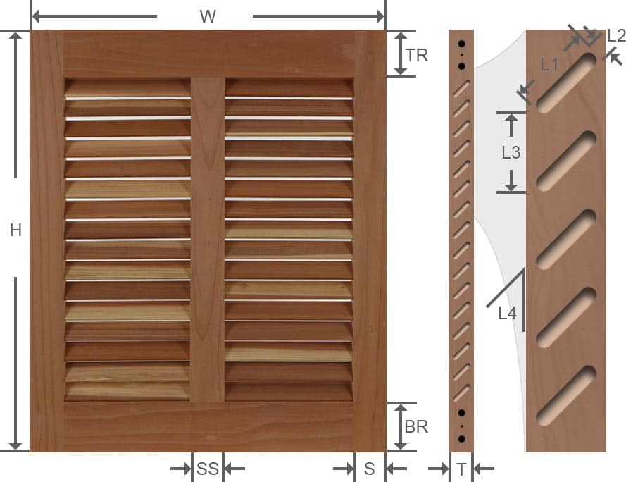 Bahama exterior shutter specifications.