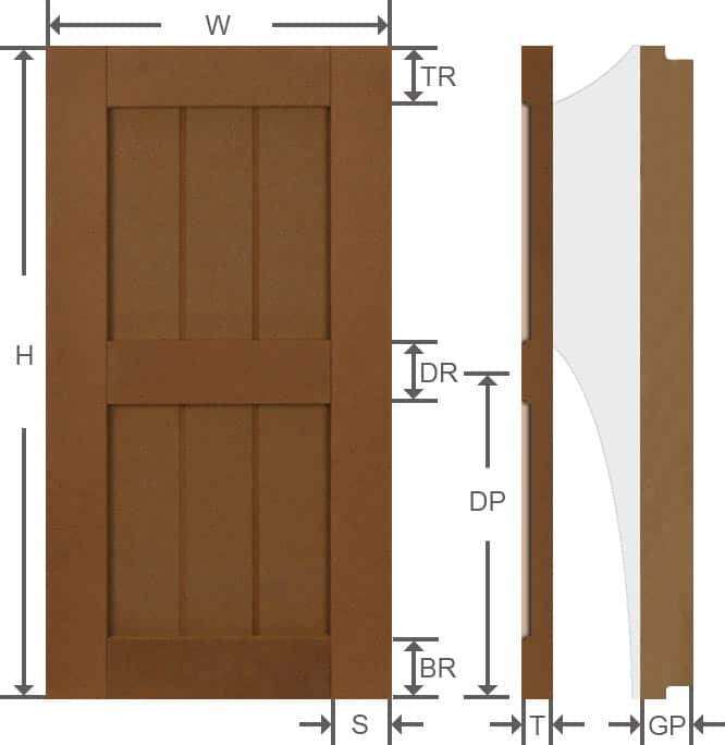 Rustic outdoor grooved panel composite custom made shutters measurements.