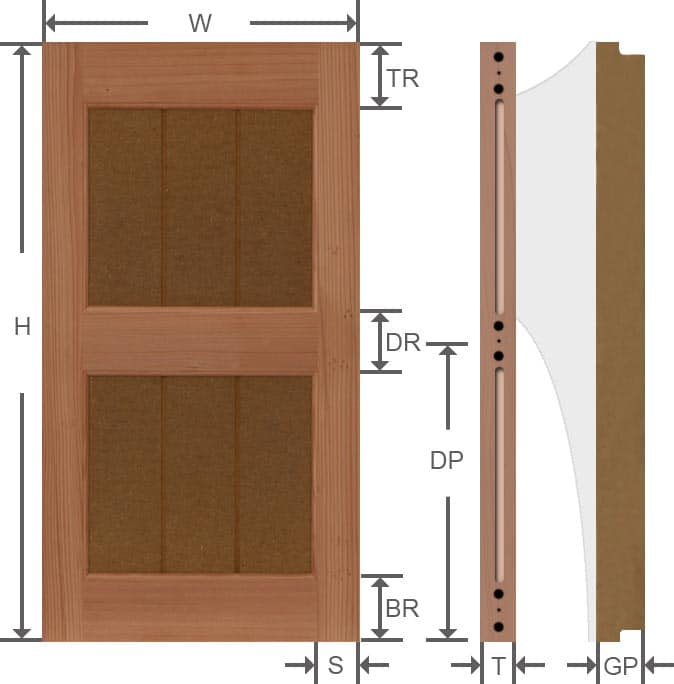Rustic wood grooved panel outdoor wood shutters specifications.